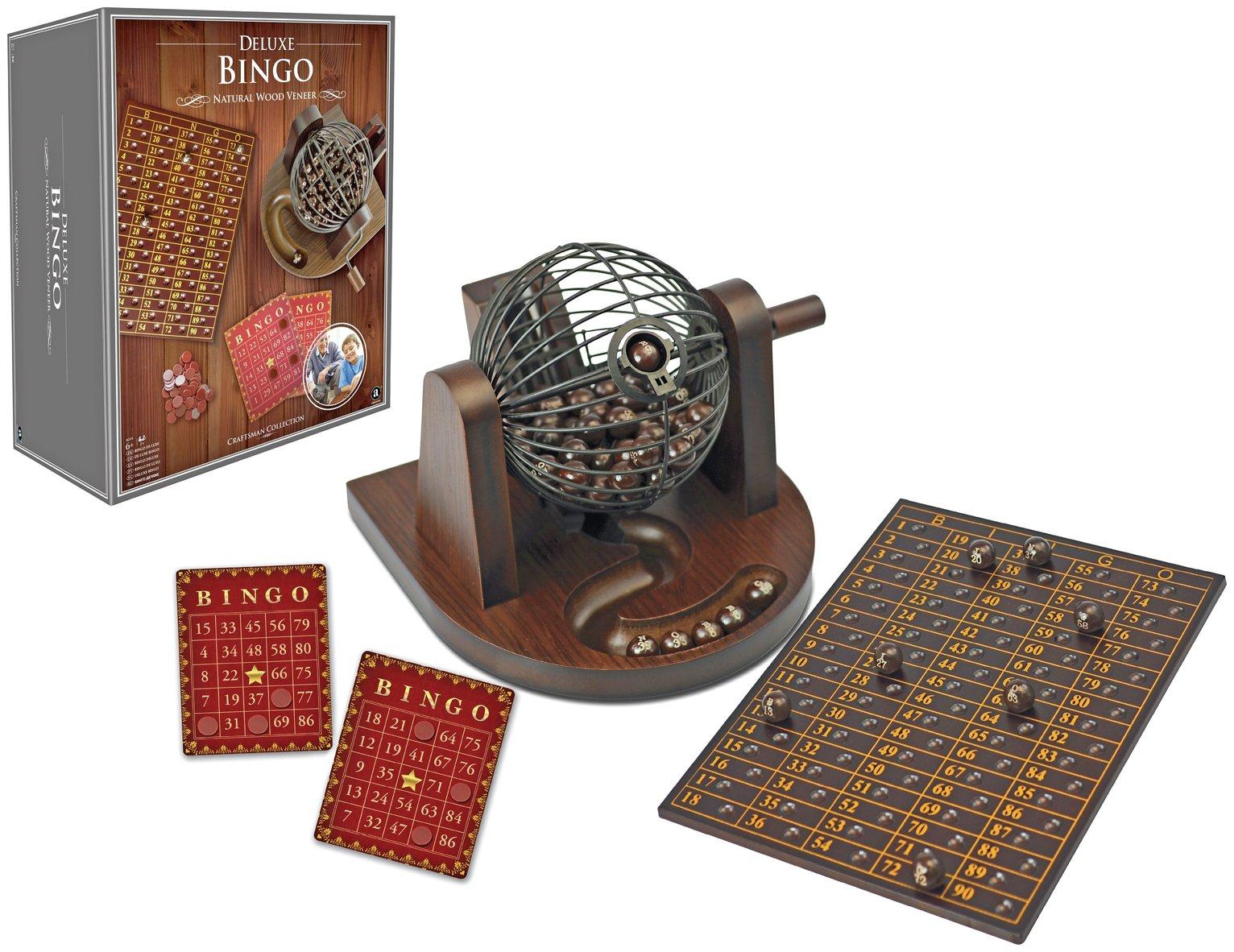 Ambassador Craftsman Wood Veneer Deluxe Bingo