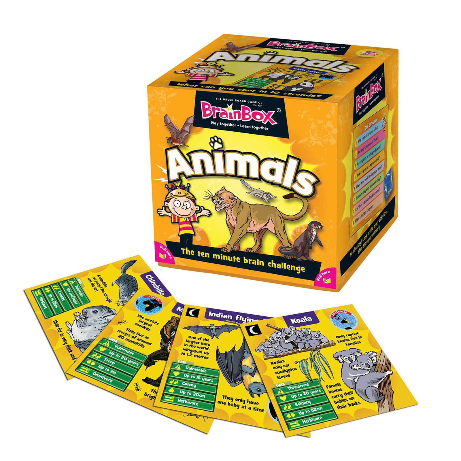 BrainBox Card Game - Animals Edition Refresh (55 Cards)
